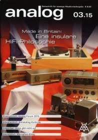 Zeitschriften: analog - Zeitschrift für analoge Musikwiedergabe  03/15, Zeitschrift
