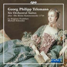 """Georg Philipp Telemann (1681-1767): 6 Orchestersuiten nach """"Die kleine Kammermusik 1716"""", 2 CDs"""