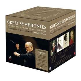 David Zinman - The Zürich Years 1995-2014 (Great Symphonies), 50 CDs