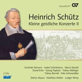 Heinrich Schütz (1585-1672): Kleine Geistliche Konzerte II (Carus Schütz-Edition Vol.17), 2 CDs