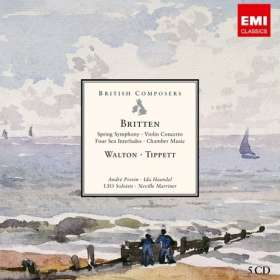 British Composers - Britten/Walton/Tippett, 5 CDs