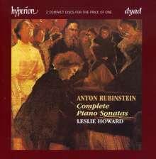 Anton Rubinstein (1829-1894): Klaviersonaten Nr.1-4, 2 CDs