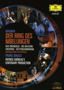 Richard Wagner (1813-1883): Der Ring des Nibelungen, 8 DVDs