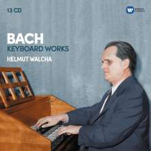 Johann Sebastian Bach (1685-1750): Helmut Walcha spielt Bach (Cembalowerke), 13 CDs
