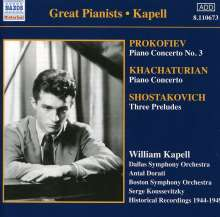 William Kapell spielt Klavierkonzerte, CD