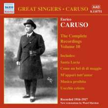 Enrico Caruso:The Complete Recordings Vol.10, CD