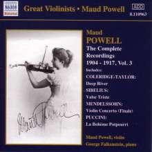 Maud Powell - Sämtliche Aufnahmen Vol.3, CD