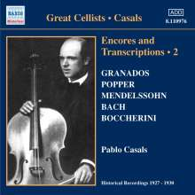 Pablo Casals - Encores and Transkriptions Vol.2, CD