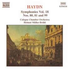 Joseph Haydn (1732-1809): Symphonien Nr.80,81,99, CD
