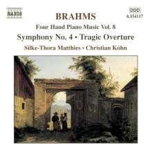 Johannes Brahms (1833-1897): Klaviermusik zu 4 Händen Vol.8, CD