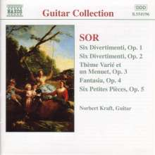 Fernando Sor (1778-1839): Divertimenti opp.1 & 2, CD