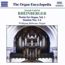 Joseph Rheinberger (1839-1901): Sämtliche Orgelwerke Vol.1, CD