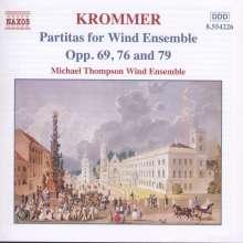 Franz Krommer (1759-1831): Oktett-Partiten für Bläser op.69,76,79, CD