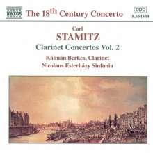 Carl Stamitz (1745-1801): Sämtliche Klarinettenkonzerte Vol.2, CD