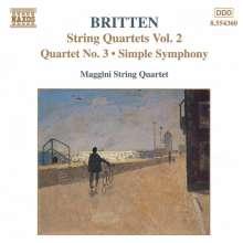 Benjamin Britten (1913-1976): Sämtliche Werke für Streichquartett Vol.2, CD