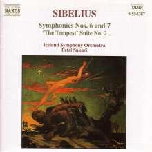 Jean Sibelius (1865-1957): Symphonien Nr.6 & 7, CD