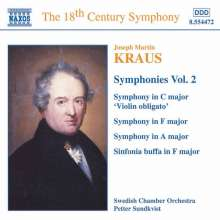 Josef Martin Kraus (1756-1792): Symphonien C-Dur,F-Dur,A-Dur, CD