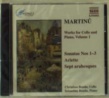 Bohuslav Martinu (1890-1959): Werke für Cello & Klavier Vol.1, CD