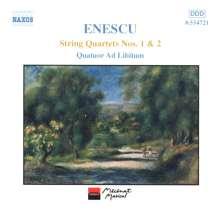 George Enescu (1881-1955): Streichquartette Nr.1 & 2, CD