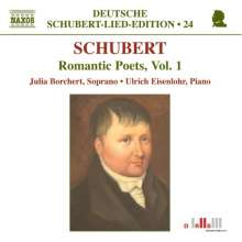 "Franz Schubert (1797-1828): Lieder ""Romantische Dichter"" Vol.1, CD"