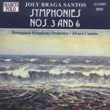 Joly Braga Santos (1924-1988): Symphonien Nr.3 & 6, CD