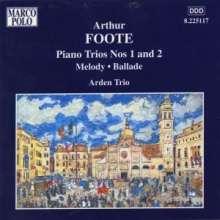 Arthur Foote (1853-1937): Klaviertrios Nr.1 & 2, CD