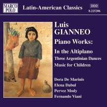 Luis Gianneo (1897-1968): Klavierwerke Vol.2, CD