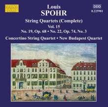 Louis Spohr (1784-1859): Streichquartette Vol.15, CD