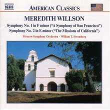 Meredith Willson (1902-1984): Symphonien Nr.1 & 2, CD
