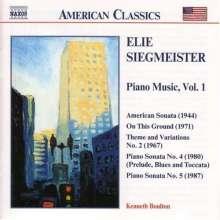 Elie Siegmeister (1909-1991): Klavierwerke Vol.1, CD