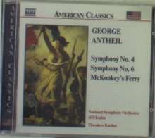 George Antheil (1900-1959): Symphonien Nr.4 & 6, CD