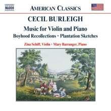 Cecil Burleigh (1885-1980): Musik für Violine & Klavier, CD