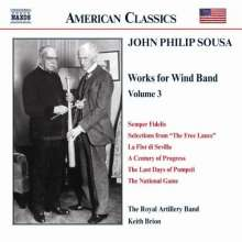John Philip Sousa (1854-1932): Music for Wind Band Vol.3, CD