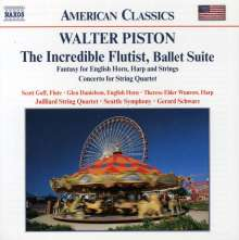 Walter Piston (1894-1976): The Incredible Flutist (Ballettmusik), CD