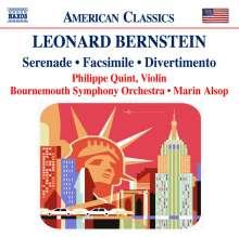 Leonard Bernstein (1918-1990): Serenade für Violine, Streicher, Harfe, Schlagzeug, CD