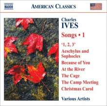 Charles Ives (1874-1954): Lieder Vol.1, CD