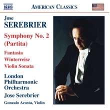 "Jose Serebrier (geb. 1938): Symphonie Nr.2 ""Partita"", CD"
