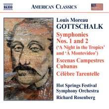 Louis Moreau Gottschalk (1829-1869): Symphonien Nr.1 & 2, CD