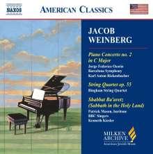 Jacob Weinberg (1879-1956): Klavierkonzert Nr.2, CD