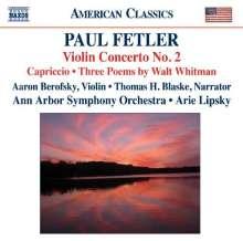 Paul Fetler (geb. 1920): Violinkonzert Nr.2, CD