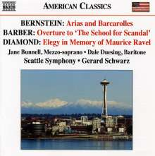 Leonard Bernstein (1918-1990): Arias & Barcarolles, CD