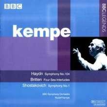 Rudolf Kempe dirigiert, CD
