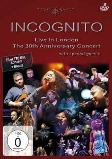 Incognito: Live In London: The 30th Anniversary Concert 2009, 2 DVDs