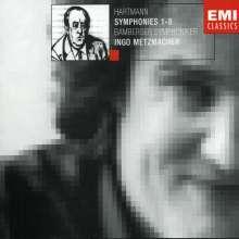 Karl Amadeus Hartmann (1905-1963): Symphonien Nr.1-8, 3 CDs