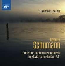 Robert Schumann (1810-1856): Orchester- und Kammermusikwerke für Klavier zu 4 Händen Vol.1, CD