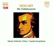 Wolfgang Amadeus Mozart (1756-1791): Violinkonzerte Nr.1-5, 3 CDs