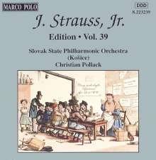 Johann Strauss II (1825-1899): Johann Strauss Edition Vol.39, CD