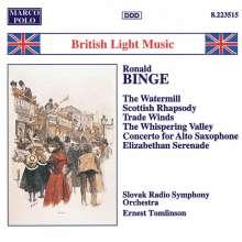 Ronald Binge (1910-1979): Konzert f.Altsaxophon, CD