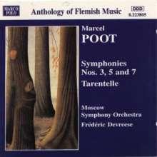 Marcel Poot (1901-1988): Symphonien Nr.3,5,7, CD