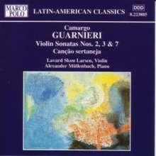 Mozart Camargo Guarnieri (1907-1993): Violinsonaten Nr.2,3,7, CD
